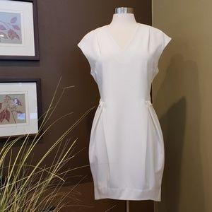 CRES E. DIM Korean Designer White Fitted Dress M